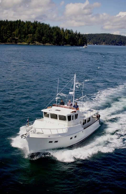 Trawlers and ocean going motor yachts designed for passage