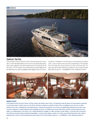 Selene 78 Yacht Desing 2013