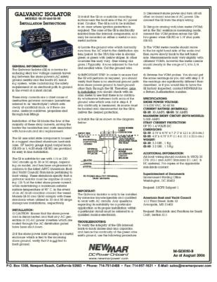 Galvanic Isolator GI-30 & GI 50GI