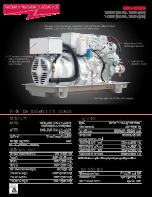 Generator Northern Lights 14 kW (50 Hz, 1500 rpm) 844DW3