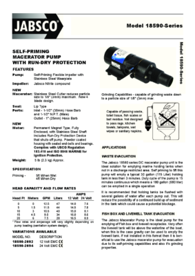 Self-Priming Macerator pump 18590-Series